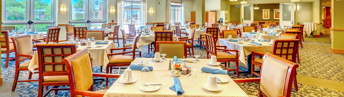 fine senior dining at covenant village of northbrook